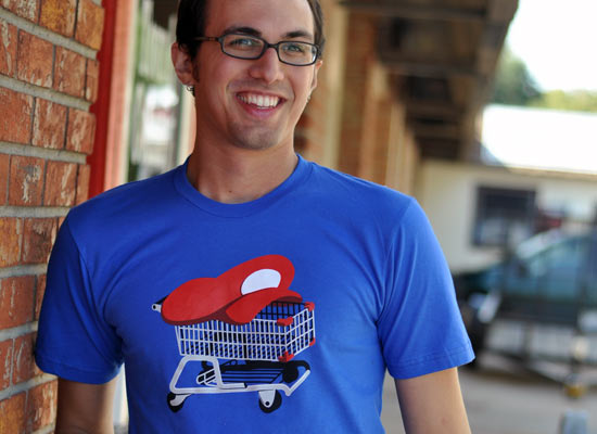 Mario Kart Shopping Cart Funny Video Game Shirt Snorgtees